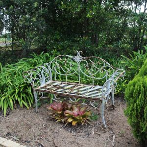 Green Metal Bench Seat