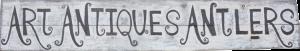 Logo Art Antiques Antlers